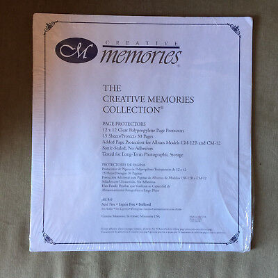 Creative Memories Collections Page Protectors 12 X12 15 Sheets