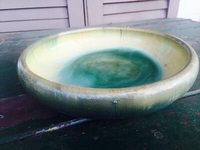Antique FULPER Bowl Multi Green Ink Stamp