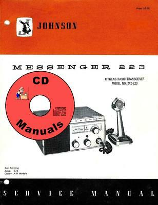 E. F. Johnson Messenger 223 CD SERVICE MANUAL (A-H) Models CB Radio Book KJ4IYE