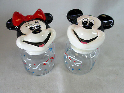 Disney's Mickey & Minnie Mouse glass ceramic cookie candy jars