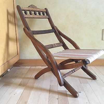 Rare Antique Child's Eastlake Wooden Chair