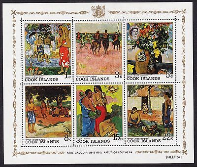 Cook Islands 1967 Gauguin Paintings Sheetlet Mint Never Hinged