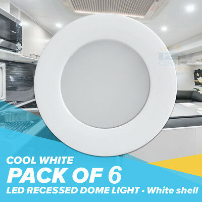 Facon 6pcs rv led 45inch 12v recessed interior ceiling down 6pcs 12v led recessed ceiling light rv under cabinet 70mm white down lamp cool w aloadofball Images