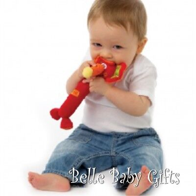 BRAND NEW Baby Toys - GENUINE PLAYGRO Squeaker Toy - Red Trumpet