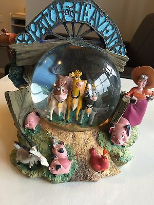 """Rare Disney Home On The Range """"Patch of Heaven"""" Musical Snowglobe"""