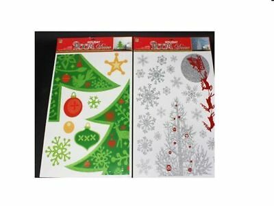 6 x christmas wall deco diy tree 2asst colour peel on and off wholesale Lot