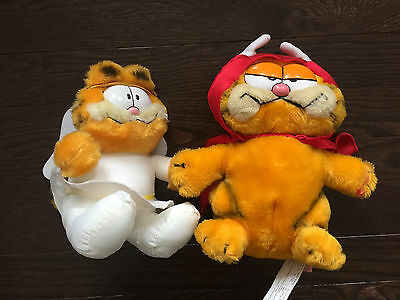 Garfield Vintage Angel 1983 & Devil 1981 Plush Toy
