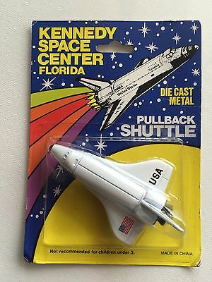 Vintage Kennedy Space Center Diecast Metal Pullback Shuttle NIP!