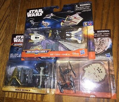 Star Wars Micromachines Gold Series Lot Force Awakens Mandalorian Melee Empire