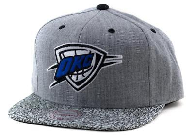 OKC Thunder Cap - Mitchell & Ness NBA Hat - Mitchell And Ness In Grey