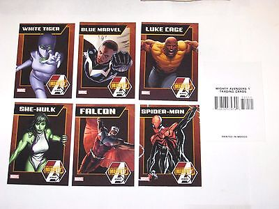 2013 Mighty Avengers Promo 7 Card Set! Luke Cage! Spider-Man She Hulk Homecoming