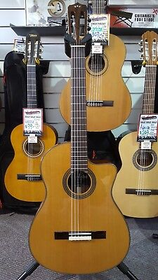 Cordoba Fusion 12C Natural Electric Cutaway Classical Guitar w/ 48mm Nut and Bag