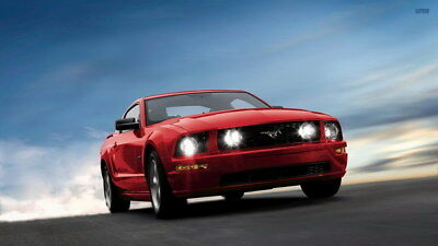 "021 Mustang - Ford Super Car Racing Car concept 42""x24"" Poster"