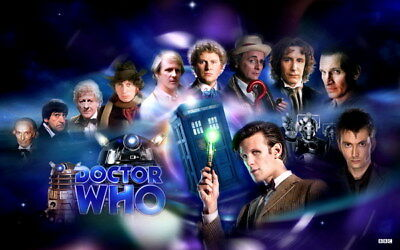 """014 Doctor Who - BBC Space Travel 50th_anniversary Hot TV Show 38""""x24"""" Poster"""