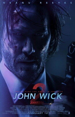 "015 John Wick Chapter 2 - Keanu Reeves 2017 Movie 24""x37"" Poster"