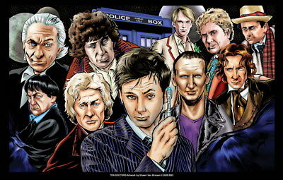 """011 Doctor Who - BBC Space Travel 50th_anniversary Hot TV Show 37""""x24"""" Poster"""