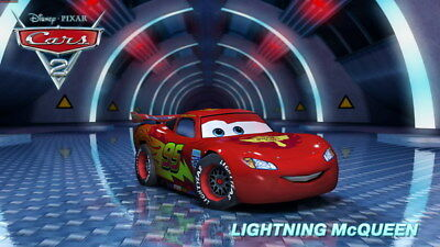 "014 Cars - Pixar Lightning McQueen Cartoon Movie 42""x24"" Poster"