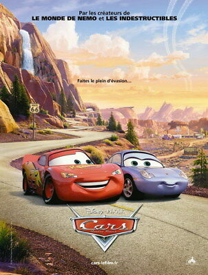 "009 Cars - Pixar Lightning McQueen Cartoon Movie 24""x31"" Poster"