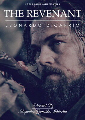 "002 Leonardo DiCaprio - The Revenant Handsome Actor Movie Star 24""x33"" Poster"