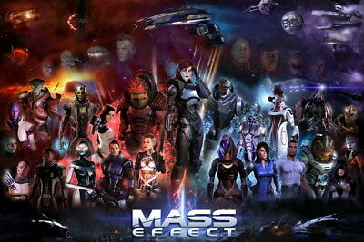 "029 Mass Effect 3 - ME Killer Fighting Shooting Hot TV Game 36""x24"" Poster"