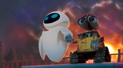 "007 WALL E - Pixar Eve Space Adventure Cartoon Movie 43""x24"" Poster"