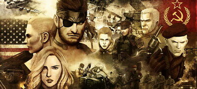 "044 Metal Gear Solid - Snake Rising v the Phantom Pain Game 52""x24"" Poster"