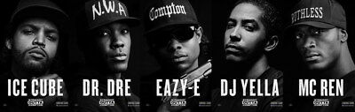 "040 Straight Outta Compton - Ice Cube MC Ren HIPHOP Moive75""x24"" Poster"
