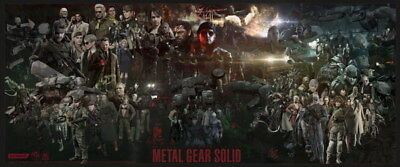 "175 Metal Gear Solid - Snake Rising v the Phantom Pain Game 57""x24"" Poster"