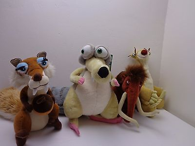 Ice Age Soft Toys x 4