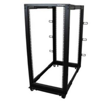 NEW STARTECH 4POSTRACK25U 25U ADJUSTABLE DEPTH 4 POST SERVER RACK....b.