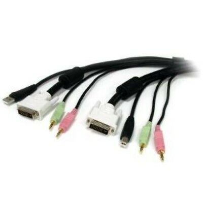 NEW STARTECH USBDVI4N1A6 1.5M 4-IN-1 USB DVI KVM CABLE WITH AUDIO....b.