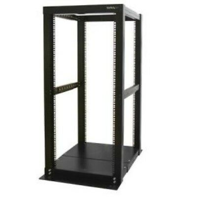 NEW STARTECH 4POSTRACK25 25U 4 POST OPEN FRAME SERVER RACK....b.