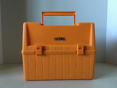 Vintage 1980's THERMOS LUNCH BOX COMPLETE IN GREAT CONDITION ORANGE