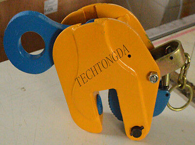 NEW 1 pc Vertical Plate Lifting Clamp With Lock Hoist Hook Chain Lifter