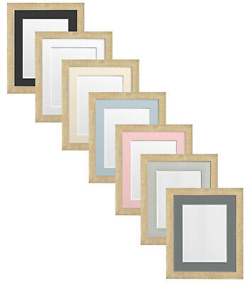 Deep Grain Light Brown Picture Photo Frame with Mounts