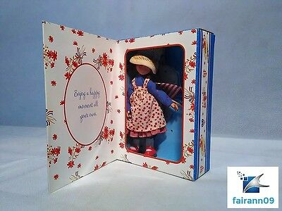 Rare Holly Hobbie Greeting Doll Girl Holding the American Flag