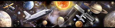 RoomMates Space Travel Peel and Stick Wall Border Self Adhesive Home Room Decor