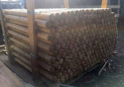 Timber Pegs Posts Stakes Machine Round 1200mm long 50mm round pointed