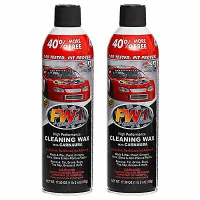 2 X FW1 Fastwax Cleaning Waterless Wash & Wax with Carnauba.Fast Shipping!