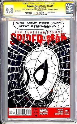 Superior Foes Of Spider-Man #1 Cgc Ss 9.8 Stan Lee Quote Sketch By John Beatty