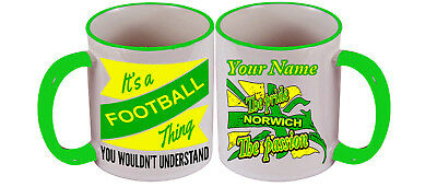 Personalised  Mug For All Norwich City Football Fans. Christmas Gift