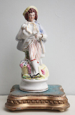 A Fine c19th Antique Staffordshire Figure, a Boy with Ewer & Cup