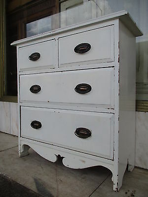 Small Edwardian Antique Painted Chest Of Drawers / Antique Bedroom Chest