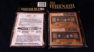 Rare! Maxell Xl-Ii 90 Chrome Blank Audio Cassette Tape Sealed Set Of 4