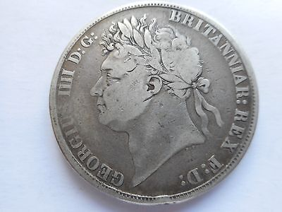"""1821 George IV """"Secundo"""" Silver Crown Coin. REDUCED TO CLEAR."""