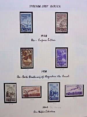 1025]  Stamps Of Italian East Africa - 1938/1940 Used  - Airs -- On Album Page