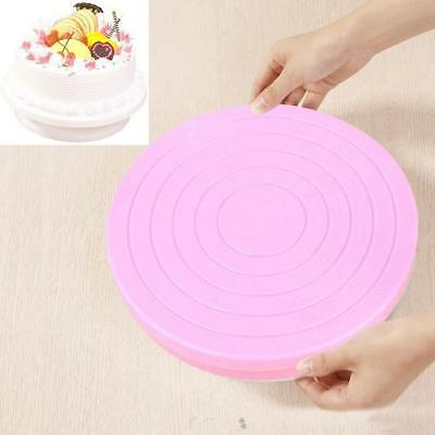 Small Cake Revolving Turntable Decorating Stand Platform Rotating Icing Tool GA