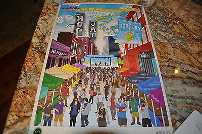 "RARE NEW Hanson Jamestown Revival Hop Jam 2015 Art Poster! 12""X18"""