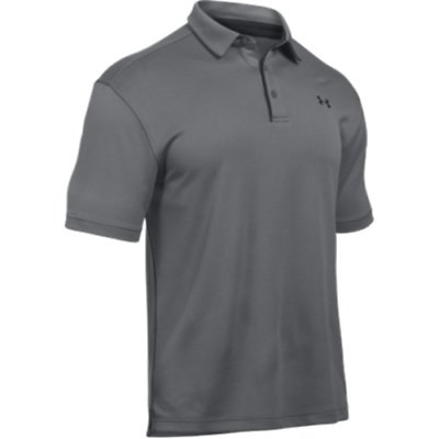 Under Armour 1290140040LG Men's Graphite Tech Polo Large