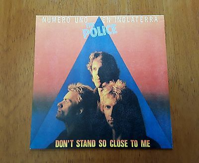 POLICE PS single Don't Stand So Close To Me (A&M AMS 9001 - Spain 1980)